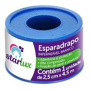 Esparadrapo Impermeável Branco Starlux 2,5CMX4,5MTS