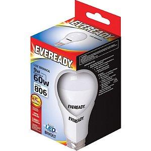 Lâmpada Led 9W (60W) Bivolt 6500K Luz Branca  -  Linha Eveready