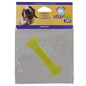 Osso Brinquedo Topbone Borracha Maciço Aromatizado N1 Starlux Pet
