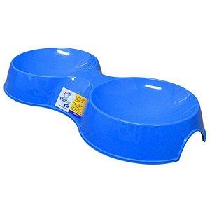 Comedouro Plástico Resistente Para Gato Duplo 190 ML - Starlux Pet