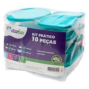Pote Multiuso Azul Starlux ( Kit com Melhor Custo x Beneficio )