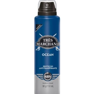 Desodorante Aerosol Tres Marchand Ocean 150ML ( 48h de Proteção )