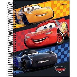 Caderno Disney Carros Espiral Capa Dura 80  Folhas  –  StarSchool
