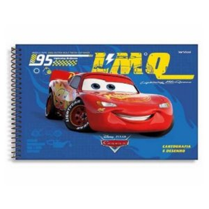 Caderno Disney Carros Espiral Cartografia 80 Folhas –  StarSchool