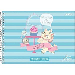 Caderno Disney Marie Espiral Cartografia 80 Folhas  –  StarSchool