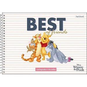 Caderno Disney Pooh Espiral De Cartografia 80 Folhas – StarSchool
