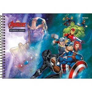 Caderno Disney Avengers Espiral Cartografia 80 Folhas – StarSchool