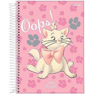 Caderno Universitário Disney Marie 1 Matéria 80 Folhas–StarSchool