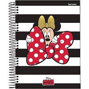 Caderno Universitário Disney Minnie 1 Matéria 80 Folhas –StarSchool