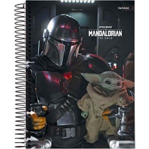 Caderno Disney Mandalorian Espiral Capa Dura 80 Folhas – StarSchool