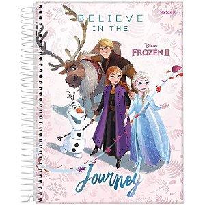 Caderno Disney Frozen Espiral Capa Dura 80  Folhas  –  StarSchool