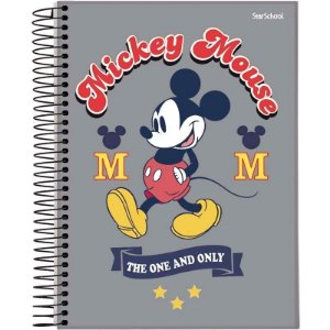 Caderno Disney Mickey Espiral Capa Dura 80  Folhas  –  StarSchool