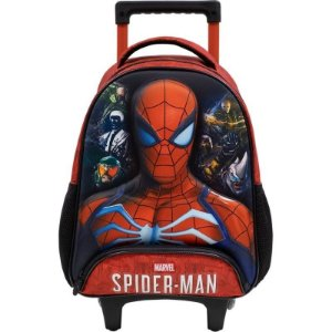 """Mochila Infantil Com Rodas Spider Man 14"""" Disney – Linha StarSchool"""
