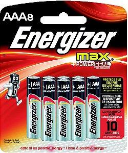 Pilha Max SM Palito AAA8 Energizer