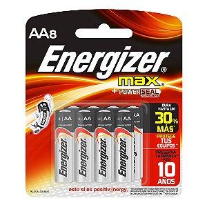 Pilha Max SM Pequena AA8 Energizer