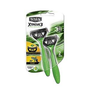 Aparelho Schick Xtreme 3 Pele Sensível Verde Com 2 Unidades