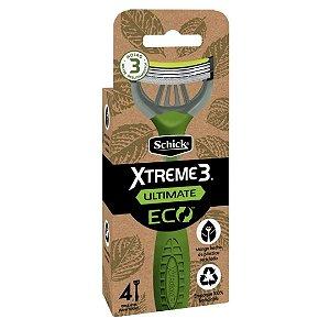 Aparelho Schick Xtreme 3 Ultimate Eco Com 4 unidades