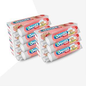 Creme Dental Dentil Baby 0-3 Anos S/Flúor C/Xilitol Morango 12 Unidades 50G