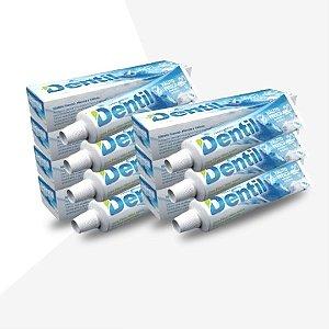 Creme Dental Dentil Hálito Fresco C/Flúor 12 Unidades 70G