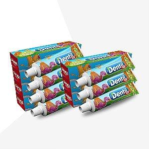 Creme Dental Dentil Kids Gel Morango 12 Unidades 50G