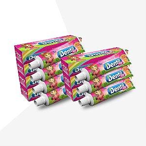 Creme Dental Dentil Kids Gel Tutti-Frutti 12 Unidades 50G