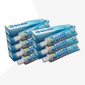 Creme Dental Dentil Sensitive Menta 12 Unidades 90G (Gel)