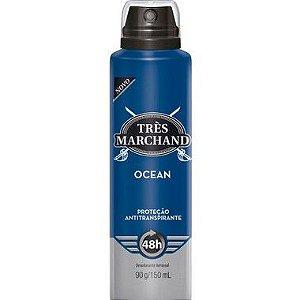 Desodorante Aerosol Tres Marchand Ocean 150ML 1 Unidade
