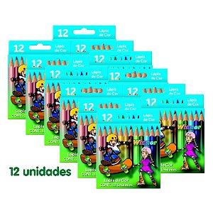 Winner Lapis Cor (Faber 111402) Pequeno 12 Cores com 12 Unidades