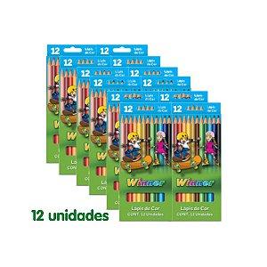 Winner Lapies Cor (Faber 111401) Grande 12 Cores com 12 Unidades