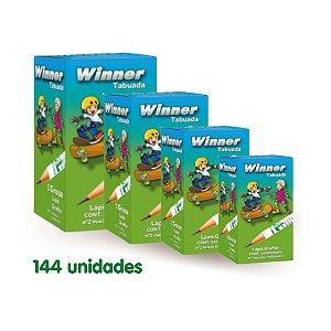 Winner Lapis Preto Tabuada Nº 2 (Faber) Ref. 1102 com 144 Unidades