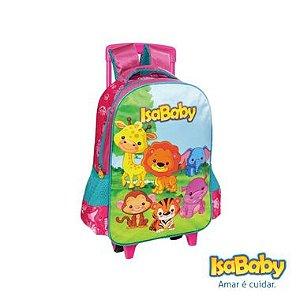 """Isababy Zoo Mochila Com Rodinha Infantil Rosa T15"""" 1 Unidade"""