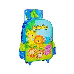 """Isababy Zoo Mochila Com Rodinha Infantil Azul T15"""" 1 Unidade"""