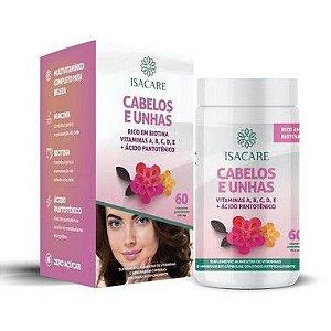 Isacare Vitamina A,B,C,D,E + Ácido Pantotenico (Cabelo e Unha) 60 Cápsulas 1 Unidade