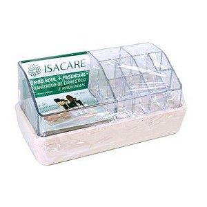 Isacare Organizador Maquiagem Grande Combo Soul + Essencial Rosa 1 Unidade
