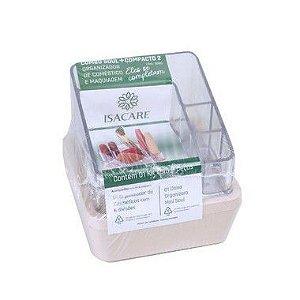 Isacare Organizador Maquiagem Pequeno Combo Soul + Compacto Rosa 1 Unidade