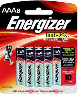 Pilha Energizer Max-Sm Palito AAA8 12 Cartelas Com 8 Unidades