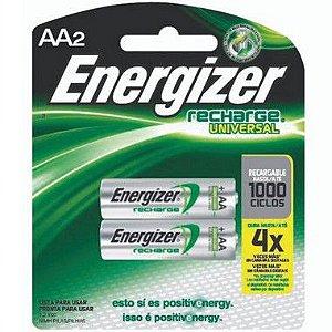 Pilha Energizer Recarregavel Pequena AA2 1 Cartela Com 2 Unidades