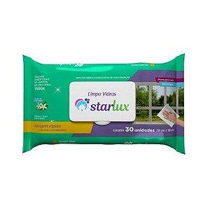 Starlux Limp. Toalha Umedecida Limpa Vidros Biodegradavel 6 Pacotes Com 30 Unidades