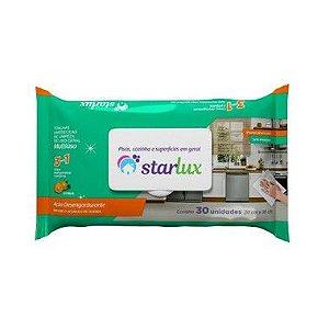 Starlux Limp. Toalha Umedecida Limpeza Multiuso 3 Em 1  6 Pacotes Com 30 Unidades