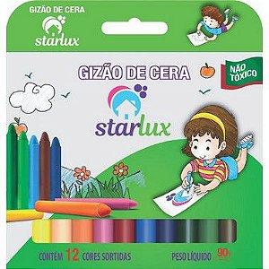 Starlux Gizão De Cera 12 Cores Com 6 Unidades