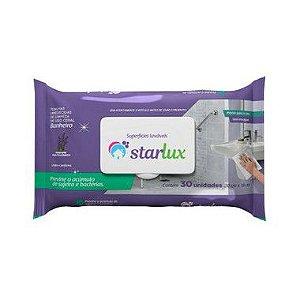 Starlux Limp. Toalha Umedecida Banheiro Previne Bacteria 6 Pacotes Com 30 Unidades