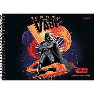Starschool Caderno Espiral Cartografia Star Wars Capa Dura 80 Folhas com 4 Unidades