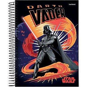 Starschool Caderno Espiral Universitário 10 Matérias Star Wars Capa Dura 160 Folhas com 4 Unidades