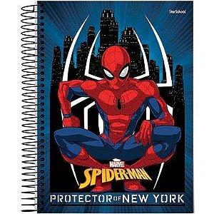 Starschool Caderno Espiral 1/4 Spider Capa Dura 80 Folhas com 5 Unidades