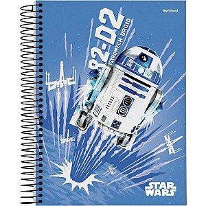 Starschool Caderno Espiral 1/4 Star Wars Capa Dura 80 Folhas com 5 Unidades