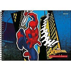 Starschool Caderno Espiral Cartografia Spider Capa Dura 80 Folhas com 4 Unidades