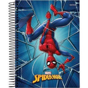 Starschool Caderno Espiral Universitário 15 Matérias Spider Capa Dura 240 Folhas com 2 Unidades