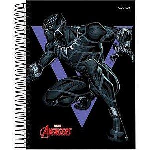 Starschool Caderno Espiral Universitário 1 Matéria Avengers Capa Dura 80 Folhas com 4 Unidades
