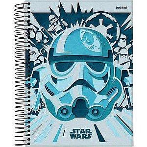 Starschool Caderno Espiral Universitário 1 Matéria Star Wars Capa Dura 80 Folhas com 4 Unidades