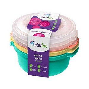 Starlux Ud Pote 530ML 3 Peças Cores sortidas Plástico
